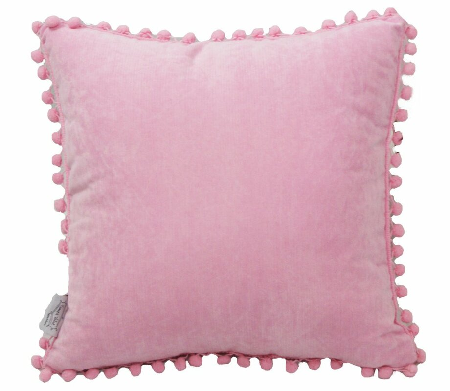 Emma and Violet PomPom Lady Throw Pillow