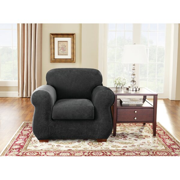 Stretch Pique Box Cushion Armchair Slipcover by Sure Fit
