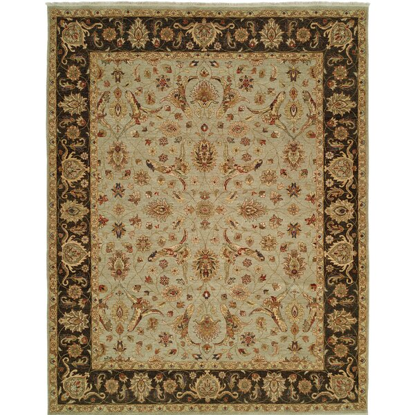 Royal Zeigler Hand-Knotted Beige/Black Area Rug by Shalom Brothers