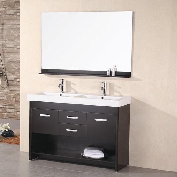 Braxton 48 Double Bathroom Vanity Set with Mirror by Home Loft Concepts