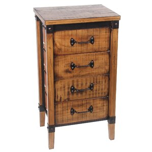 Minidoka 4 Drawer End Table by Loon Peak