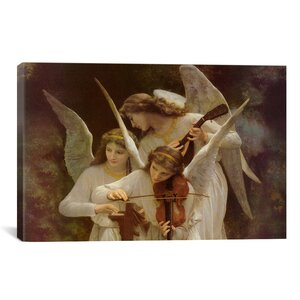 'Angels Playing Violin' by William-Adolphe Bouguereau Painting Print on Canvas by iCanvas