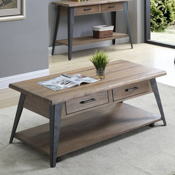 Grabill 2 Drawer Coffee Table by Williston Forge