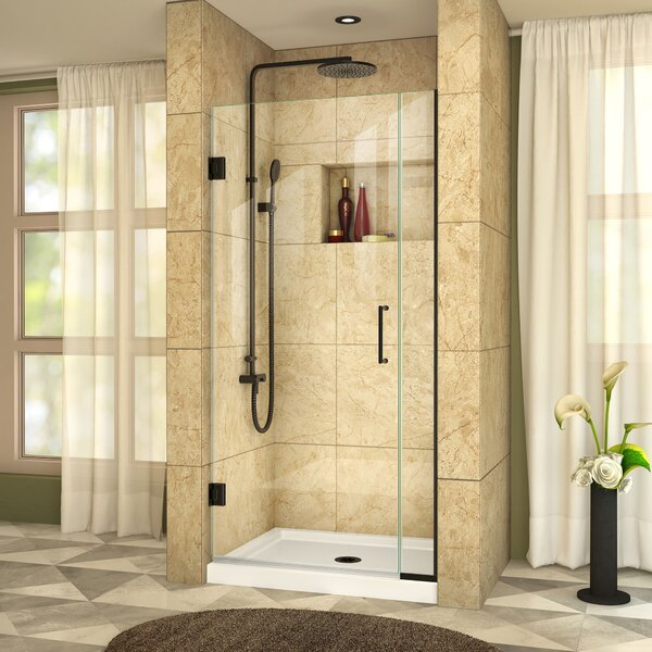 Unidoor Plus 34 x 72 Hinged Frameless Shower Door with Clearmax™ Technology by DreamLine