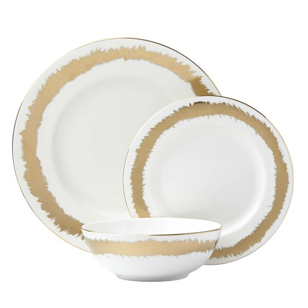 Casual Radiance Bone China 3 Piece Place Setting, Service for 1 by Lenox