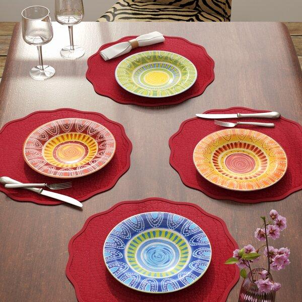 Merlet Dinner Plate (Set of 4) by World Menagerie