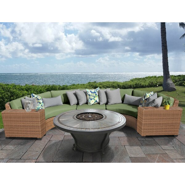 East Village 6 Piece Sectional Seating Group with Cushions by Rosecliff Heights