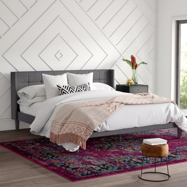Martinez Upholstered Platform Bed by Mercury Row