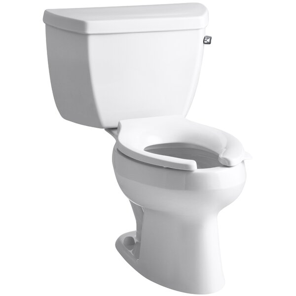 Wellworth 1.6 GPF Elongated Two-Piece Toilet (Seat Not Included) by Kohler