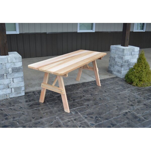 Gebhard Wooden Picnic Bench by Millwood Pines