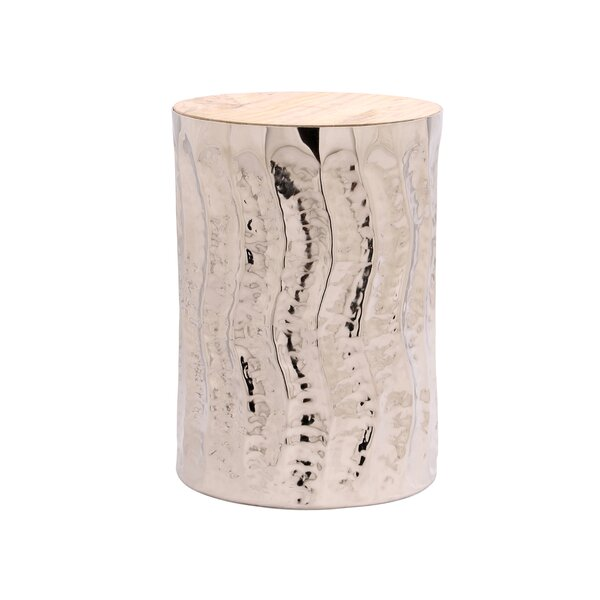 Shildon Wave Shiny End Table By Bungalow Rose