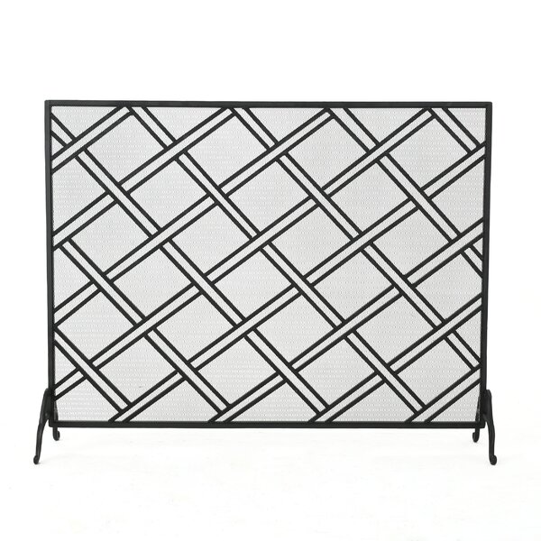Redd Single Panel Iron Fireplace Screen by Winston Porter