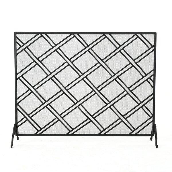 Redd Single Panel Iron Fireplace Screen by Winston