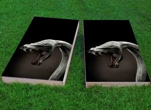 Snake in the Grass Cornhole Game (Set of 2) by Custom Cornhole Boards