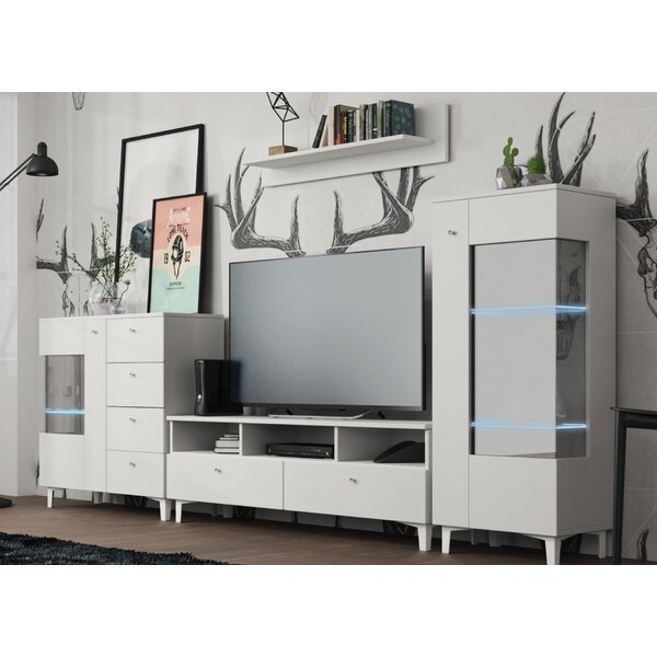 Halloway Entertainment Center (Set of 4) by Ivy Bronx