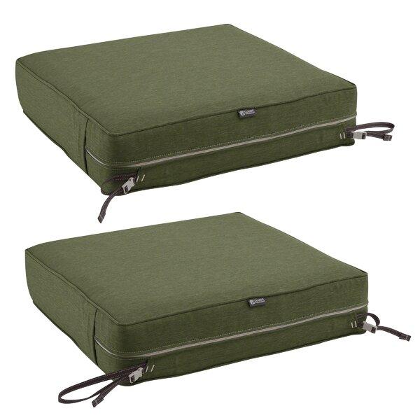 Gunn FadeSafe™ Square Patio Lounge Chair Cushion by Bayou Breeze