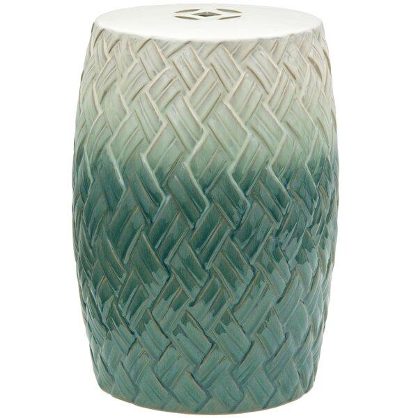 Sobieski Woven Design Porcelain Garden Stool by World Menagerie World Menagerie