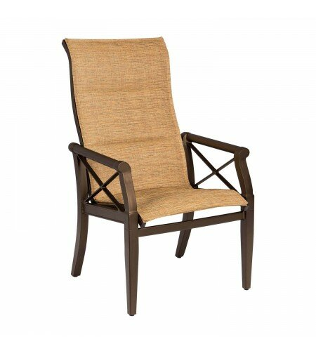 Andover Sling High-Back Patio Dining Chair by Woodard