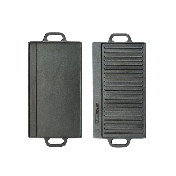 Double-Sided Cast Iron Griddle by Cal-Mil