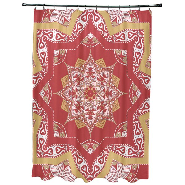Meetinghouse Shawl Geometric Print Shower Curtain by Bungalow Rose