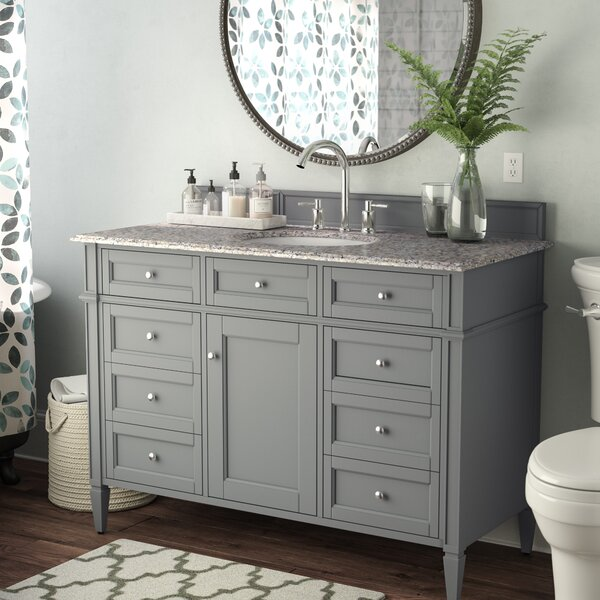 Deleon 48 Single Urban Gray Wood Base Bathroom Vanity Set by Darby Home Co