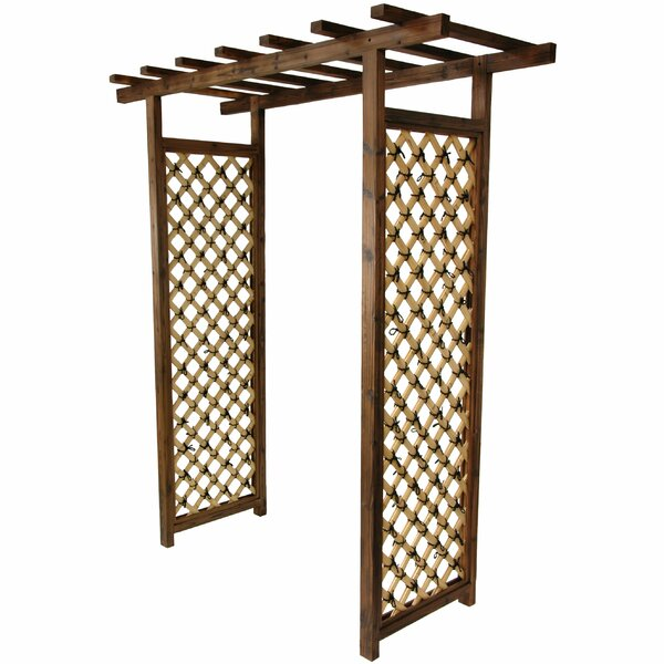 Japanese Bamboo Garden Gate Trellis Wood Arbor by Oriental Furniture