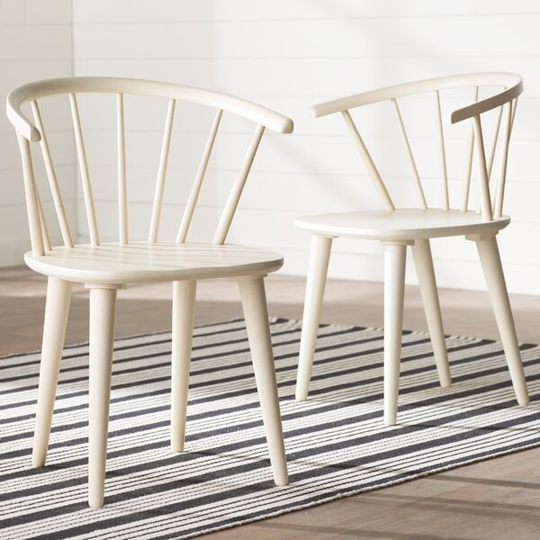 Dora Grove Solid Wood Dining Chair (Set of 2) by August Grove