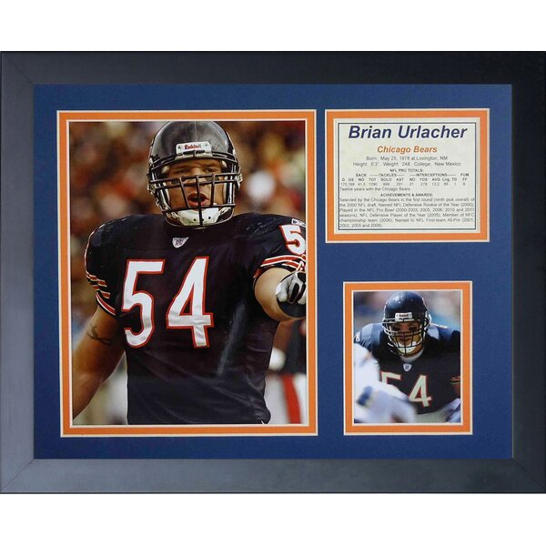 Brian Urlacher Framed Photographic Print by Legends Never Die