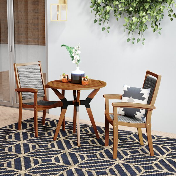 Rhett 3 Piece Bistro Set by Langley Street