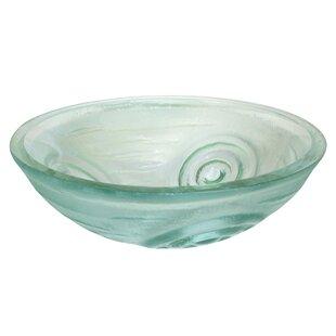 Swirls Glass Circular Vessel Bathroom Sink ByEden Bath