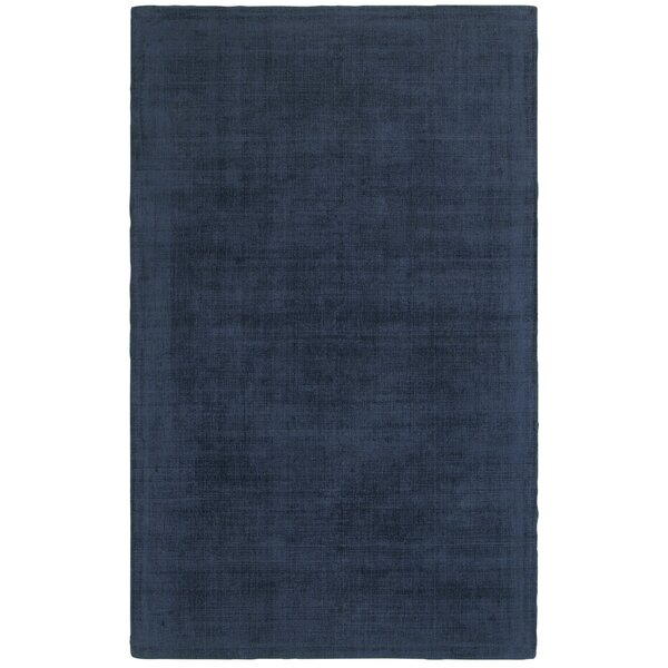 Grimes Plush Hand-Tufted Blue Area Rug by Alcott Hill