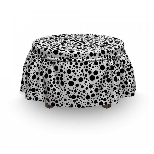 Big Small Dots 2 Piece Box Cushion Ottoman Slipcover Set By East Urban Home