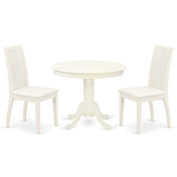 Pottstown 3 Piece Solid Wood Dining Set by Winston Porter Winston Porter