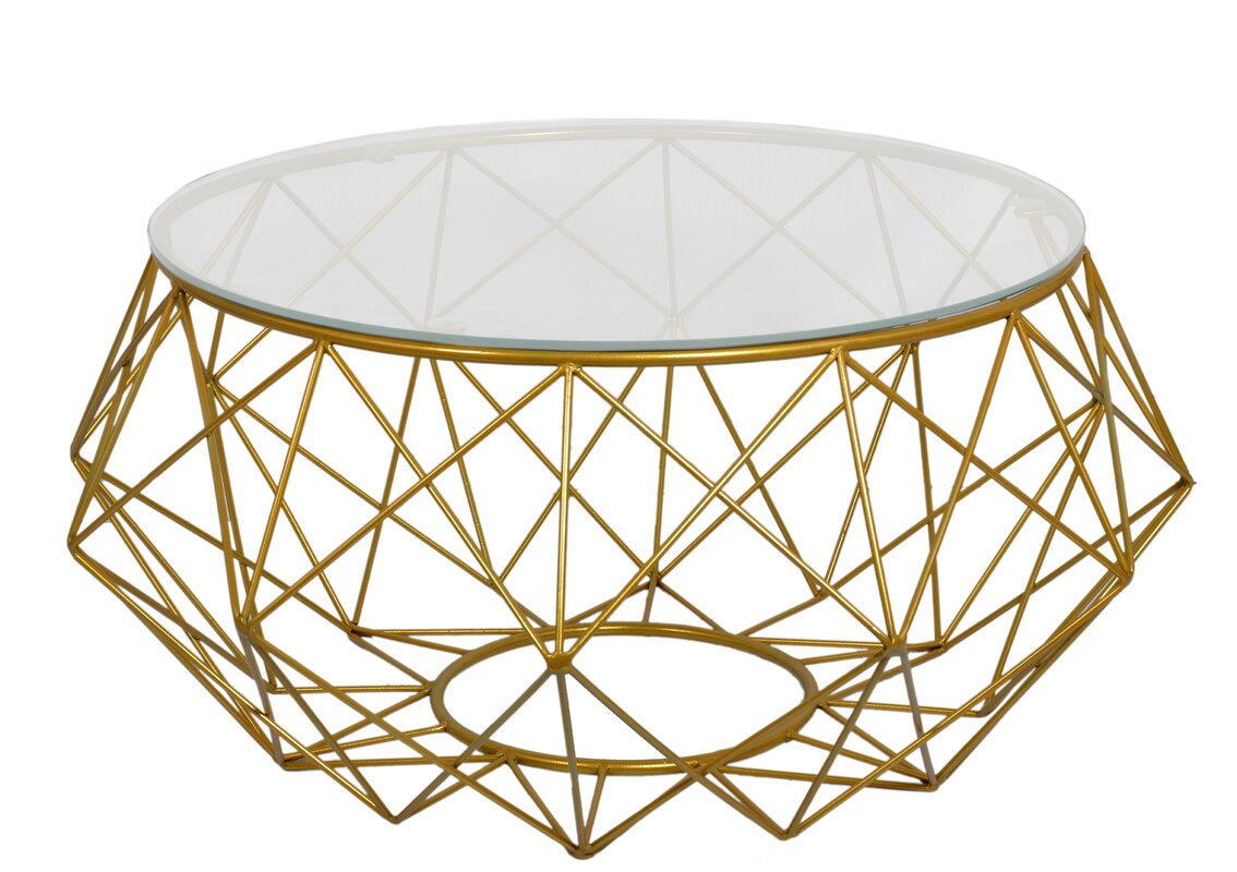 Fashion N You Diamond Wire Coffee Table & Reviews | Wayfair