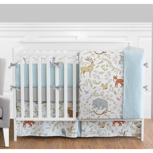 Woodland Toile 9 Piece Crib Bedding Set
