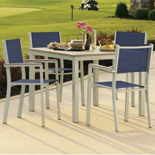 Farmington 5 Piece Dining Set With Ink Sling Back chairs By Latitude Run