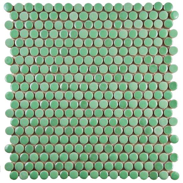 Tucana 0.59 x 0.59 Porcelain Mosaic Tile in Green by EliteTile