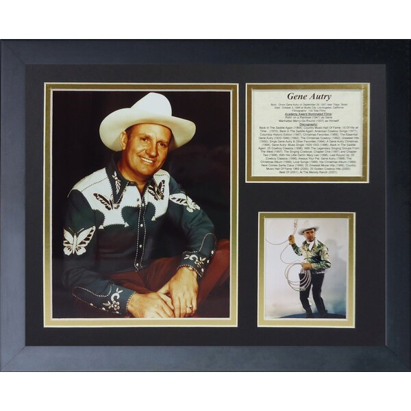 Gene Autry Framed Photographic Print by Legends Never Die