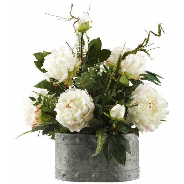 Peonies Floral Arrangement in Planter by One Allium Way