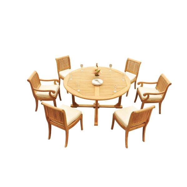 Massenburg 7 Piece Teak Dining Set by Rosecliff Heights
