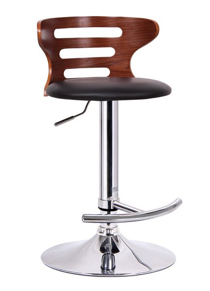 Brydon Adjustable Height Swivel Bar Stool by George Oliver