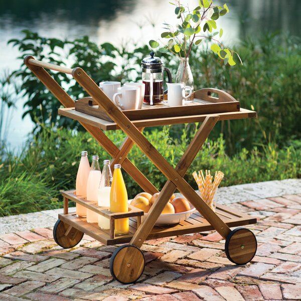 Pinecrest Bar Serving Cart By Beachcrest Home by Beachcrest Home Purchase