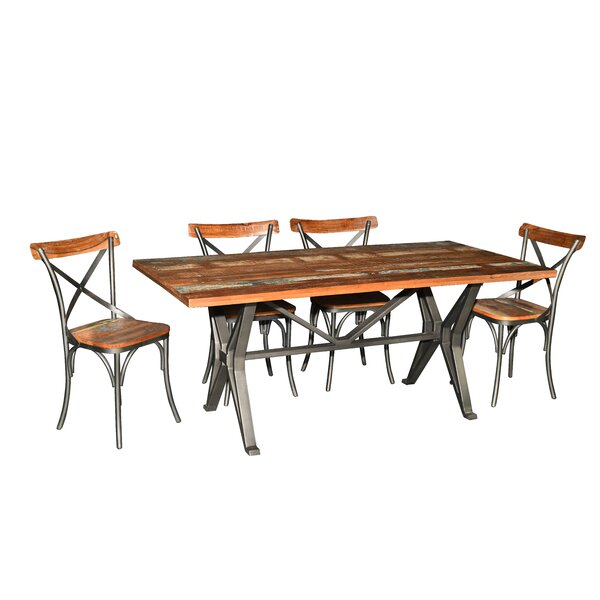 Pascoe 7 Piece Solid Wood Dining Set by Gracie Oaks Gracie Oaks