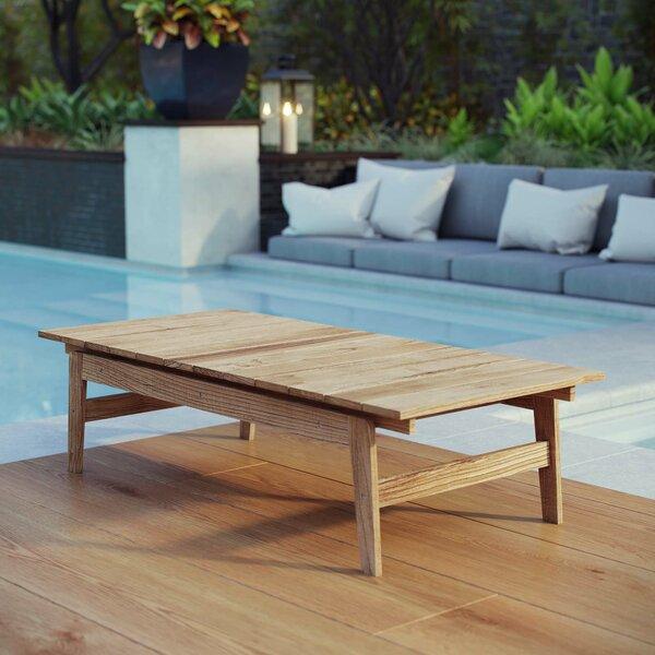 Edmeston Outdoor Teak Coffee Table by Bayou Breeze