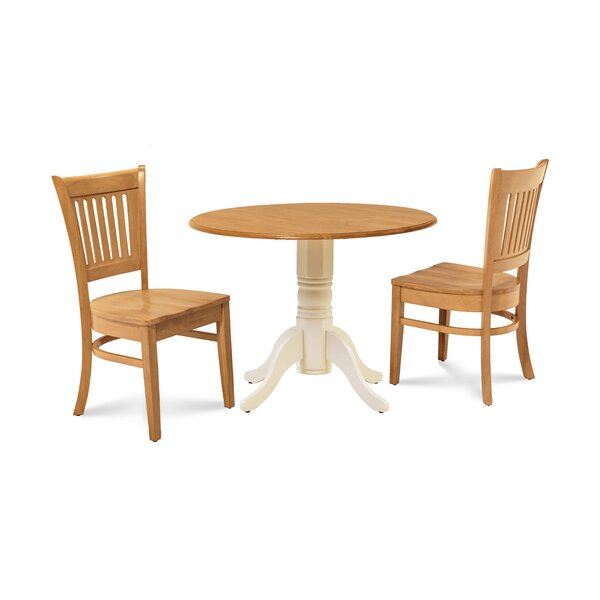 Thor 3 Piece Drop Leaf Solid Wood Dining Set by Millwood Pines