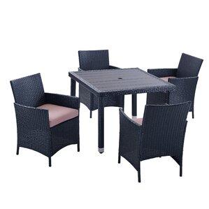 Homer 5 Piece Outdoor Dining SetPatio Dining Sets   Joss   Main. Outdoor Furniture Dining Sets. Home Design Ideas