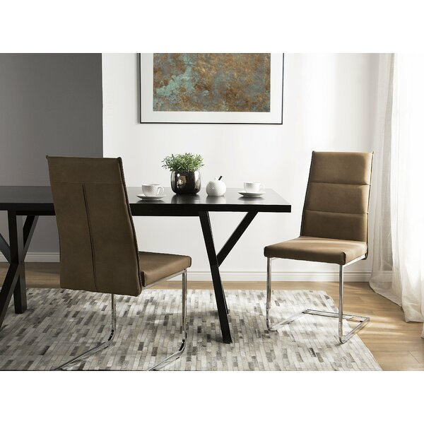 Leatherman Upholstered Dining Chair (Set of 2) by Orren Ellis