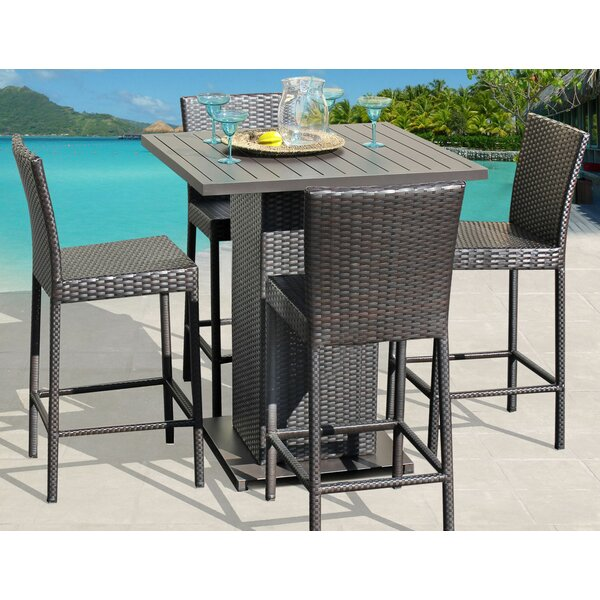 Tegan 5 Piece Bar Dining Set by Sol 72 Outdoor