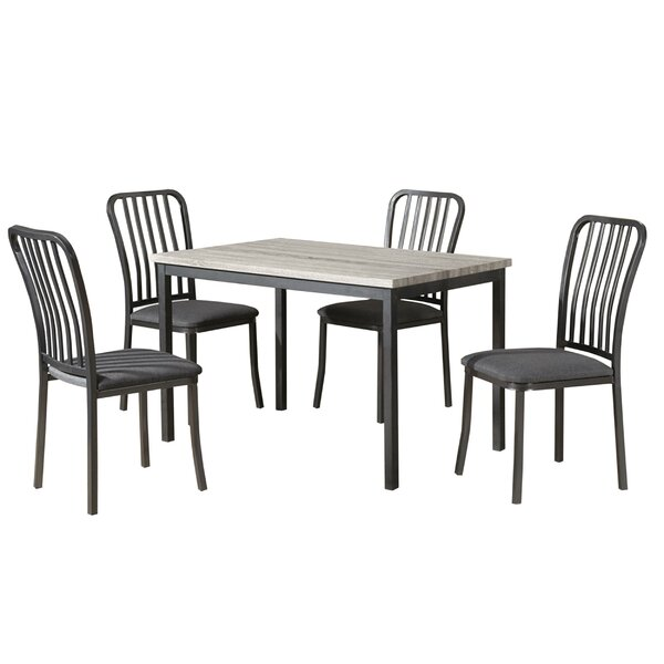 Gillispie Metal Frame 5 Piece Dining Set by August Grove