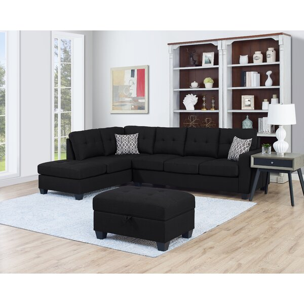 Baret Reversible Sectional with Ottoman by Ebern Designs